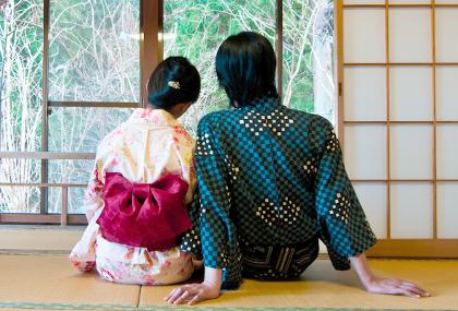 Japanische stoffe yukata for Traditionelles japanisches hotel
