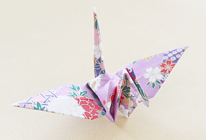 Origami, Traditioneller Kranich